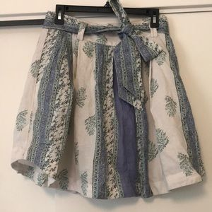 Free People Flowy Mini Skirt w/ Pockets Size 10